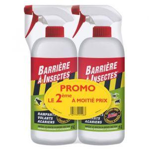 Barrière à Insectes Lot de 2 sprays répulsifs anti-insecte 2x 1L