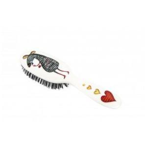 Rock and Ruddle Zebra Petit Format - Brosse à cheveux en poils de sanglier