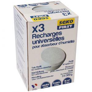 Seko Recharge absorbeur - 300 g - lot de 3 - Anti-humidité, Anti-moisissure
