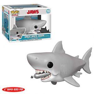 Funko Figurine Pop! Les Dents De La Mer - Requin avec Bouteille De Plongée - XXL - 15cm