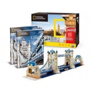 CubicFun Puzzle 120 pièces Puzzle 3d - Tower Bridge, Londres - Difficulté : 6/8
