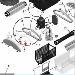 Procopi 1017012 - Roulette de guide chenille Star Vac II, III, les 4