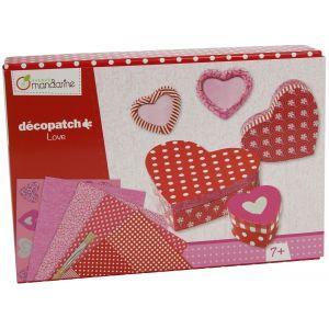 Avenue mandarine Kit créatif Décopatch Love