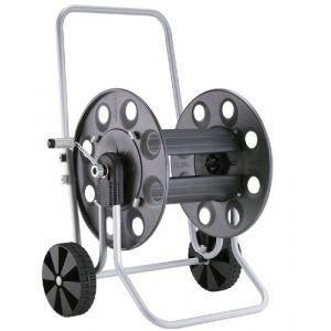 Câbleur manuel enrouleur avec roues en me'tal pour le jardin