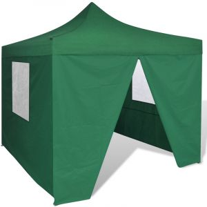 VidaXL Tente de réception pliable verte avec 4 parois