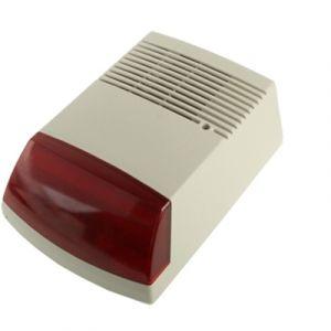 WeWoo Détecteur de mouvement infrarouge Lampe-torche de sirène câblée extérieure de puissance élevée de 50W