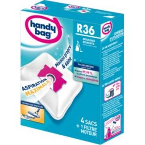 Handy Bag R36 - 4 sacs aspirateur en microfibres et 1 filtre sortie d'air