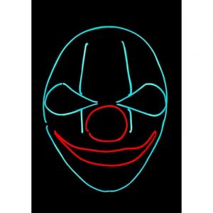 Masque néon - Clown