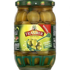 Olives vertes entières Manzalina - Le pot de 170g