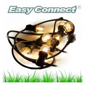 Easy Connect Guirlande festive classique 5M 8 ampoules LED E27 2W 230V blanc chaud ref 63046