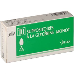Merck Suppositoires à la Glycérine Monot Adultes - 10 Suppositoires