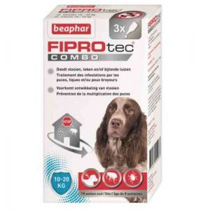 Beaphar Fiprotec Combo chiens moyens 10-20 kg 3 pipettes