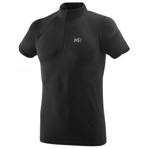 Millet LTK Seamless Light Zip SS Tee Shirt Homme, Black-Noir, FR : M (Taille Fabricant : XS/S)