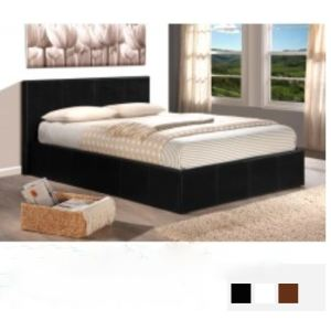 Lit coffre Skon avec sommier et tête de lit (90 x 190 cm)