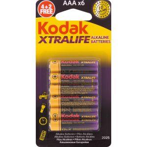 Kodak Gamme Xtralife LR3 1,5V - Vendu par 4+2 gratuites