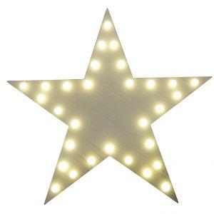 Etoile de Noël lumineuse de couleur blanc chaud LED de 30cm