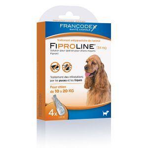Image de Francodex Fiproline 134 mg - Pipettes antiparasitaires pour Chien 10-20 kg