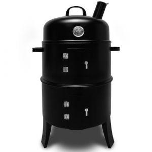 Deuba 101489 - Barbecue fumoir à charbon avec thermomètre