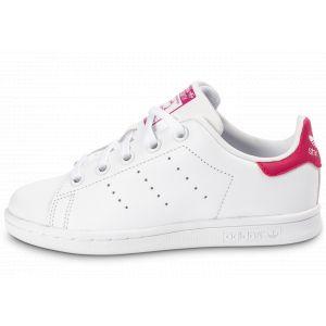 Adidas Stan Smith Enfant Blanche Et Rose 32 Baskets