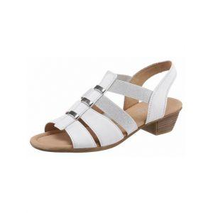 Gabor Shoes Comfort Sport, Sandales Bride Cheville Femme, Blanc (Weiss 50),39 EU