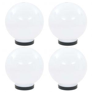 VidaXL Lampes à LED sous forme de boule 4 pcs Sphérique 20 cm PMMA