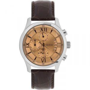 Guess W0192G1 - Montre pour homme avec bracelet en cuir
