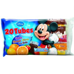 Tubes glacés aux fruits Mickey - Le sachet de 20 tubes, 802g