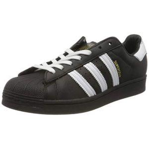 Adidas Superstar, Basket Homme, Noir de Base Blanc Blanc Noir de Base, 44 2/3 EU