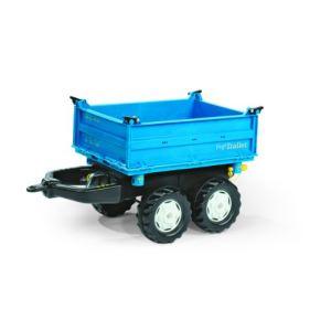 Rolly Toys Remorque tribenne New Holland pour tracteur à pédales