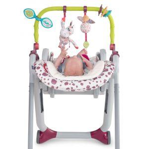 Chicco Kit barre de jeu + coussin pour chaise haute Polly Progress