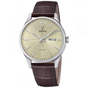 Festina F20205 - Montre pour homme avec bracelet en cuir