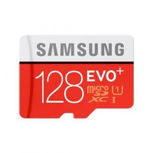 Carte Mémoire Samsung Micro SDXC Evo+ 128 Go Class 10 UHS avec Adaptateur SD