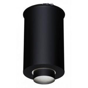 Poujoulat Fumisterie émaillée pour poêle à bois - Elément droit de finition plafond - Ht 45 cm Ø 230 inox galva - Couleur : Noir -