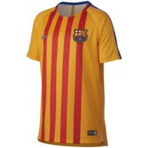 Nike T-shirt enfant Maillot Barcelone Training 2017-18 jaune - Taille 8 ans,12 ans,14 ans