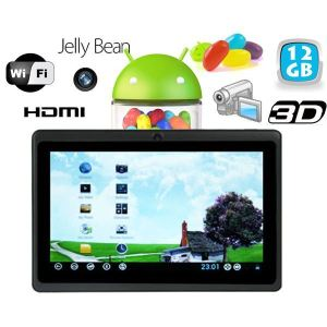 """Yonis Y-tt2g12 - Tablette tactile 7"""" HDMI sous Android 4.1 Jelly Bean (4 Go interne + Micro SD 8 Go)"""
