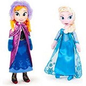 Peluche Anna et Elsa Disney La Reine Des Neiges (40 cm)