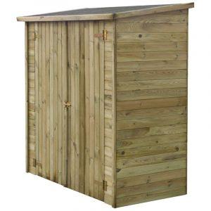 """Habitat et Jardin Abri jardin bois adossable """"Lipki"""" - 1.79 x 0.90 x 1.76/1.86 m - 12 mm - 1.62 m² - Sans plancher"""