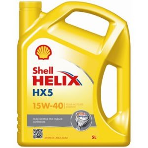 Shell Huile moteur Helix HX5 15W40 essence et diesel 5 L