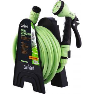 Cap Vert Dévidoir de tuyau d'arrosage portable équipé - Tuyau 10 m