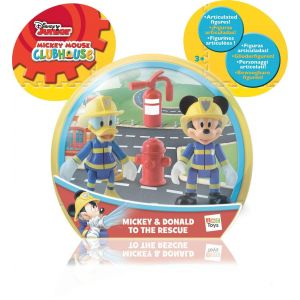 IMC Toys Pack de 2 figurines Mickey & Donald Pompiers