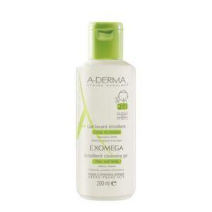 A-Derma Exomega Gel lavant émollient corps et cheveux - 200 ml
