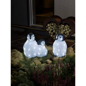 Konstsmide Figurine en acrylique pingouin 6270-203 LED blanc froid blanc froid