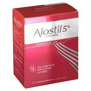 Johnson & Johnson Alostil Minoxidil 5 % - 180 ml Solution pour application locale