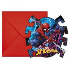 Procos 6 Invitations & Enveloppes - Spider-Man