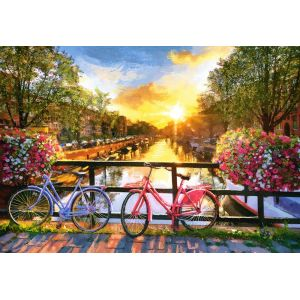 Castorland Puzzle Picturesque Amsterdam with Bicycles