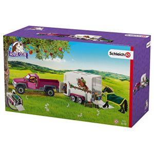 Schleich 42346 - Pick-up avec remorque pour cheval