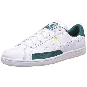 Puma Match 74 - Chaussures d'entrainement - Mixte Adulte - Blanc (White/Storm 06) - 47 EU (12 UK)