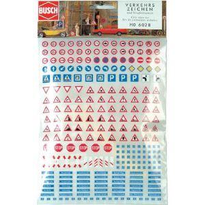 Busch 6028 - Panneaux de signalisation (noms de rues et numéros de maisons)