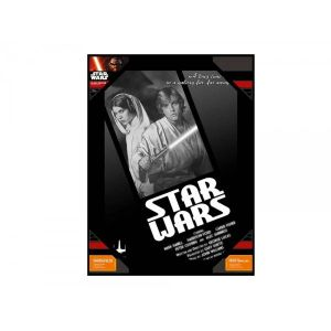 SD Toys Poster en verre Star Wars Luke And Leia B/W (30 x 40 cm)