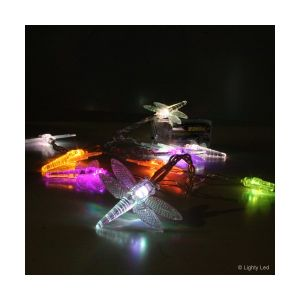 Lighty led 2 Guirlandes Libellules RGB sur piles -